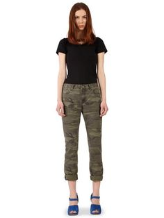 She looks surly but i am feeling the camo....Williamsburg Garment Co - Metropolitan Ave Camouflage Jeans | VAULT