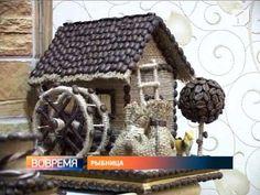 Приднестровская рукодельница из кофейных зерен создает уникальные сувениры - YouTube