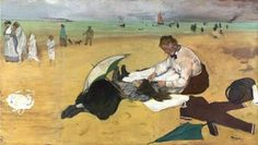 Edgar Degas - Beach Scene Arteeblog Series: Great dealers and patrons of the arts - The man who invented Impressionism - with photos, video and exhibition in 2015 http://www.arteeblog.com/2015/05/series-arteeblog-grandes-marchands-e.html