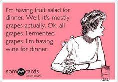 wine, laugh, ecard, fruit salads, funni, dinners, ferment grape, smile, quot