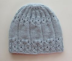 Handknitsbyelena--Yelena Chen--Blue Hat with Mock Cables for a Lady