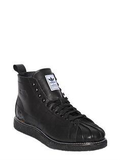 NH SHELL TOE BUZ LEATHER SNEAKERS