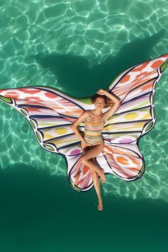 Oversize unicorn pool floats are cute and all, but we just found an inflatable that's — dare we say it? Luxury label Missoni teamed up with Missoni, Cool Pool Floats, Pvc Vinyl, Cool Pools, Summer Vibes, Nerd Cave, Butterfly, Unicorns, The Beach