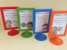 First day of Reception - Challenge Ideas Maths Display, Class Displays, School Displays, Classroom Displays, Classroom Arrangement, Early Years Displays, Maths Eyfs, Eyfs Classroom, School Classroom