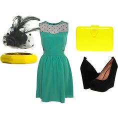 what to wear senior session, vintage style dress and shoes, created by kaylee-forkner-eylander on Polyvore