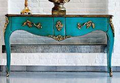❥#turquoise #roche-bobois