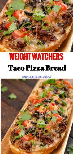 Skinny Recipes, Ww Recipes, Light Recipes, Mexican Food Recipes, Recipies, Cooking Recipes, Healthy Recipes, Taco Food, Taco Pizza