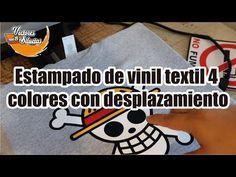Estampado de vinil textil 4 colores con desplazamiento - YouTube