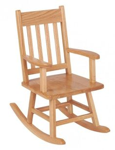 ECR4Kids Classic Child Solid Oak Wood Rocking Chair, Natural ELR 15341