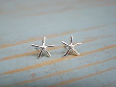 Perfect gift for a beach themed Wedding. Each pair of dainty starfish earrings comes individually gift wrapped and a special card for convenient and loving gift giving! By ShinyLittleBlessings on Etsy *** Flower Girl Jewelry, Flower Girl Gifts, Girls Jewelry, Wedding Jewelry, Flower Girls, Starfish Earrings, Stud Earrings, Nautical Jewelry, Jewelry For Her