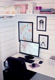 workspace..| http://ideasforinteriordesigns.blogspot.com