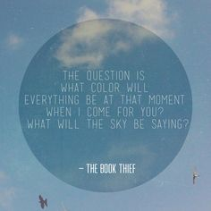 Markus Zusak The Book Thief. The most brilliant book ever.