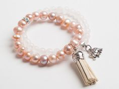Rose Mala Bracelet Stack. This lovely mala represents universal love, compassion & inner peace.  limited quantity available at thepaprikashop.com