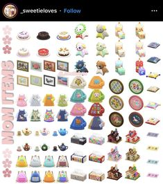 """🍄 List of Mushroom and Mom's Items 💕 Animal Crossing Guide, Animal Crossing Qr Codes Clothes, Animal Games, My Animal, Sims 4 Cc Packs, All About Animals, Animals And Pets, Colorful Furniture, Paper Furniture"