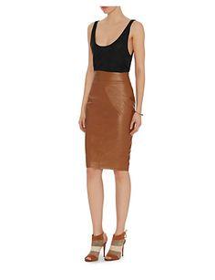 2016 Autumn High Quality High waist Faux Leather Pencil Skirt ...
