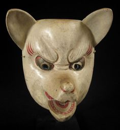 Old japanese kabuki masks that looks like a bear, very aged and weathered looking  (http://www.zenakruzick.com/asian-tribal-art/asian_tribal_art_fox_mask_japan-8094details.htm, 2014)
