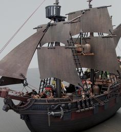 3940 Playmobil Pirate Ship Custom.