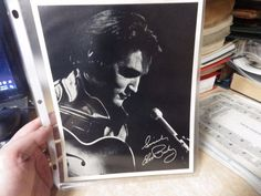 "VINTAGE RCA RECORDS AUTOGRAPHED ELVIS PRESLEY BLACK & WHITE PHOTO 8X10"" #2"