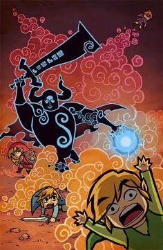 The Legend of Zelda: Four Swords Adventures, Links and Darknut / Four Swords by Fenryk on deviantART