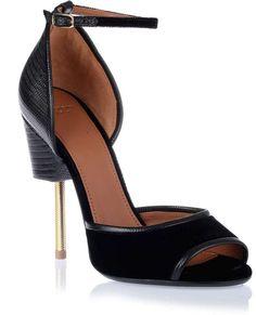 Givenchy Matilda velvet and lizard print sandal