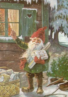 Joulukortti vuodelta 1966. #joulu #helsinki
