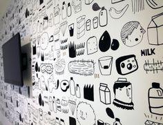 wall drawing ar young & rubicam prag