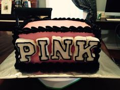 Pink Cake for the birthday girl.  Chocolate on chocolate, covered with fondant.