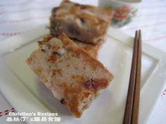 Chinese New Year Taro Cake - Christine's Recipes: Easy Chinese Recipes