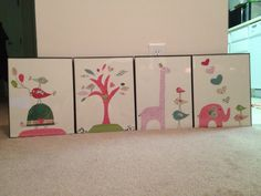 Nursery Artwork made with scrapbooking paper