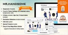 Responsive Magento theme - Gala Mr Handsome