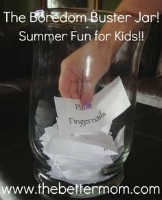 Summer Boredom Busters for Kids! Fun ideas for all summer long!!