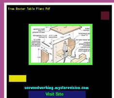 Free Router Table Plans Pdf 100740 - Woodworking Plans and Projects!