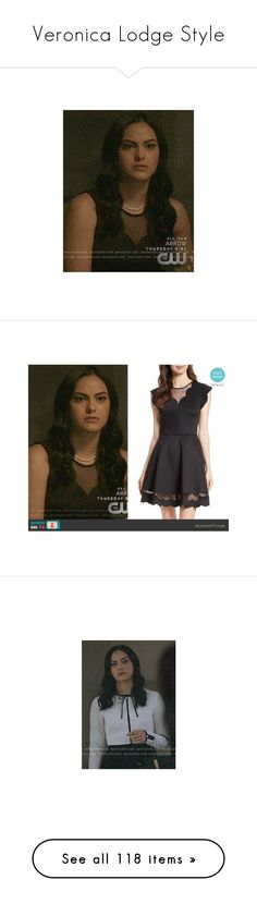 """""""Veronica Lodge Style"""" by demiwitch-of-mischief on Polyvore featuring VeronicaLodge, riverdale, tops, bow top, leopard print top, blue top, leopard tops, flower print top, polo tops and floral print tops"""