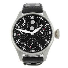 LOT:107 | IWC - a limited edition gentleman's platinum Big Pilot Perpetual Calendar wrist watch. Perpetual Calendar, Iwc, Watch Sale, Modern Jewelry, Fathers Day Gifts, Gentleman, Pilot, Auction, Gift Ideas