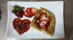 homemade strawberry pancake