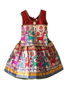 Kids girls traditional pattu pavadai for 1 years - Rs 800 - free shipping all over India - http://www.princenprincess.in/index.php/home/product/282/Red%20green%20with%20flower%20design%20royal%20pavadai #kids #choli #pattu #pavadai #girls #silk #traditional #designer #creative #indian #lehenga #kidswear #skirt #trendy #children #clothes #new #stylish #dresses #partywear #apparel #fashion #readymade #girl #dress