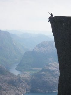 Preacher's Pulpit, a 1982-foot high cliff in Norway.