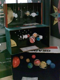 Solar System diorama- I'm thinking Space Projects, Space Crafts, Science Projects, School Projects, Solar System Projects For Kids, Space Solar System, Solar System Model, Space Activities, Preschool Activities
