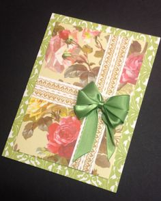 Gorgeous Floral Card with Anna Griffin Papers