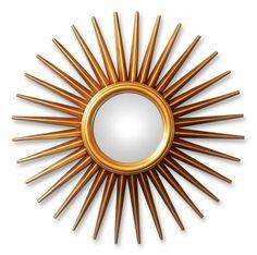 Зеркало Солнце в золотой раме, А147 Стар, D 76см