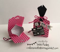 """Ghiradelli Chocolate Holder :: Confessions of a Stamping Addict..6x4, S 4""""-1""""&3""""   6-2 3/4"""", 3 1/4"""""""