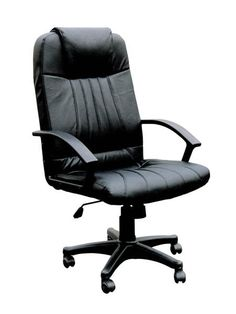 arthur black bonded leather nylon office chair wpneumatic lift