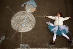 Sidewalk Chalk Props: Creative Photos Of Kids As Part Of Chalk Art#slide=1216334