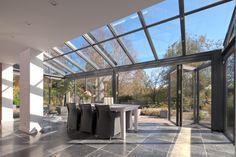 schuifpui met glazen dak stuk - Google zoeken
