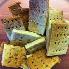 Crackers rápidos de harina de arroz. Sin gluten, sin leche, sin azúcar, veganos, vegetarianos...