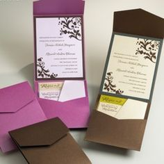 Mit Pocketfolds Individuelle Einladungen Für Hochzeit U0026 Co. Selber Basteln.  Entdecken Sie Die Farbvielfalt