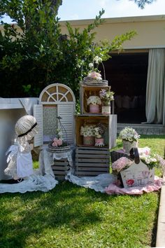 Sarah Kay, Baptism Decorations, Holly Hobbie, Decoration Table, Minnie Mouse, Baby Shower Parties, Wooden Boxes, Wedding Signs, Christening