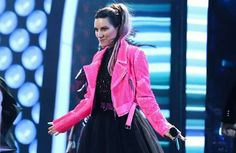MIAMI, FL - JULY 12: Univisions Premies Juventud Waard Rehearsals (Photo by Getto Image for Univision) Laura Pausini and Mario Domm