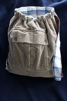 A Homemaker's Journal: Little Man's backpack from corduroy cargo pants