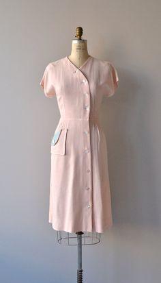 Spring Faire dress vintage 1950s dress linen 50s by DearGolden